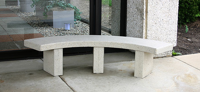 Large Curved Bench B5910 Doty Concrete