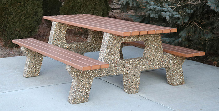 Picnic Table With Recycled Plastic Lumber T Doty Concrete - Picnic table recycled plastic lumber