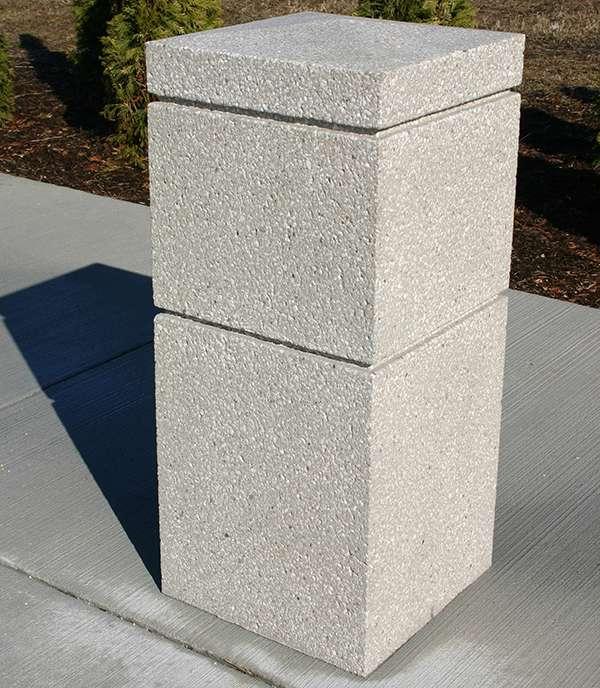 16 Quot Square Bollard B161636 Doty Concrete
