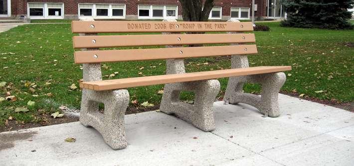 Legacy Bench W Recycled Plastic Lumber BM Doty Concrete - Picnic table recycled plastic lumber