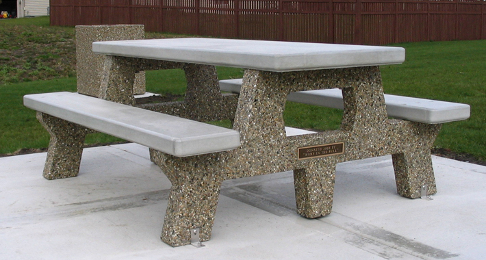 All Concrete Memorial Picnic Table (T6561M)