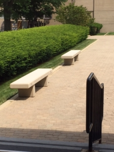 B5200 Benches shown at Portland Cement Association campus.