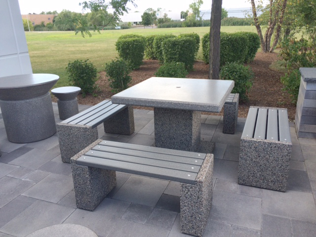 Concrete Table Sets For Outdoor Patio At Aircraft
