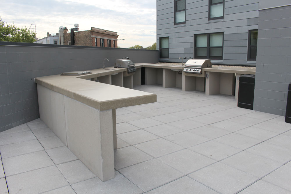 Custom Concrete Benches Fit Pit Seating Concrete Bar