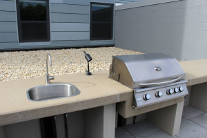 Grill and sink