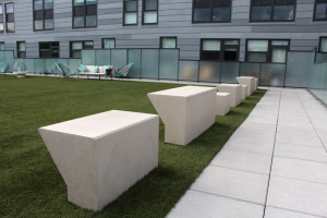 Custom made concrete benches.
