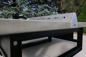 Concrete/Steel outdoor ping pong table.
