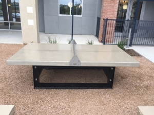 Ping pong table for outdoor pool areas
