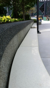 Concrete bench custom made