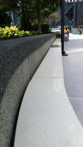 Concrete bench custom made