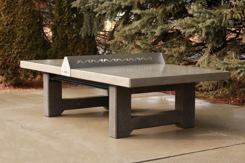 Concrete Ping Pong Tennis Table Outdoor Fun Doty Concrete