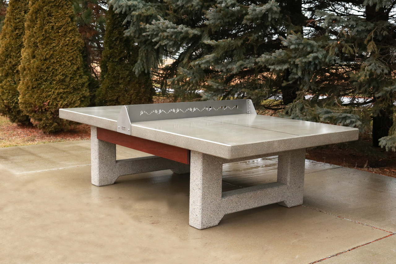 Concrete Amp Steel Ping Pong Table Doty Concrete