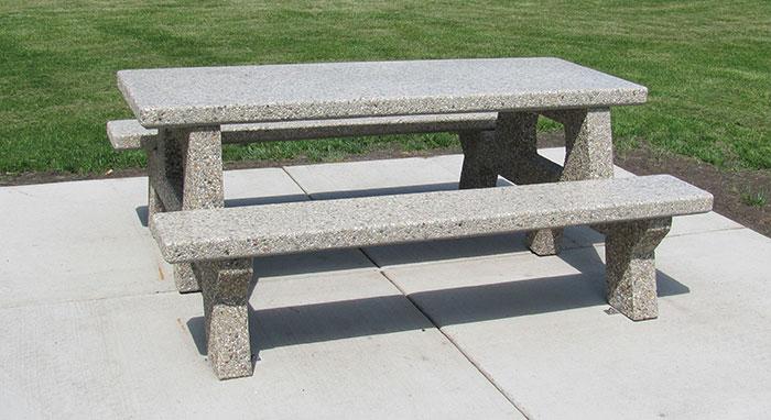 Concrete Picnic Table T6561 Doty Concrete
