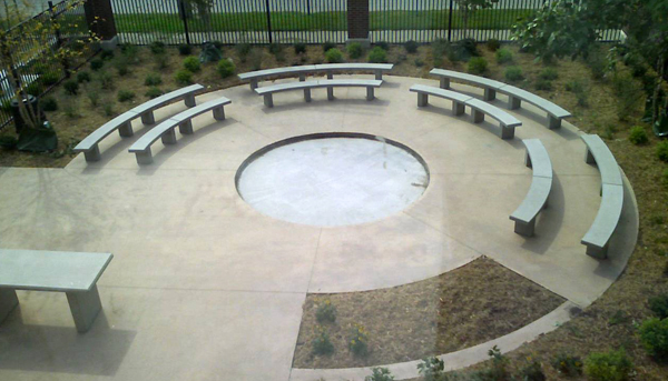 Superb Curved Benches For Outdoor Classroom Doty Concrete Uwap Interior Chair Design Uwaporg