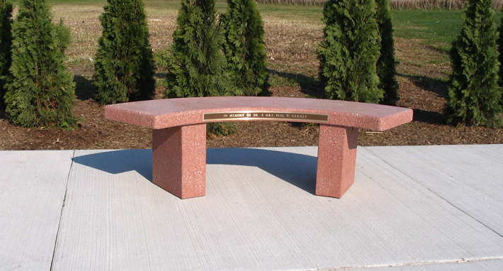 Curved Memorial Bench B5900m Doty Concrete
