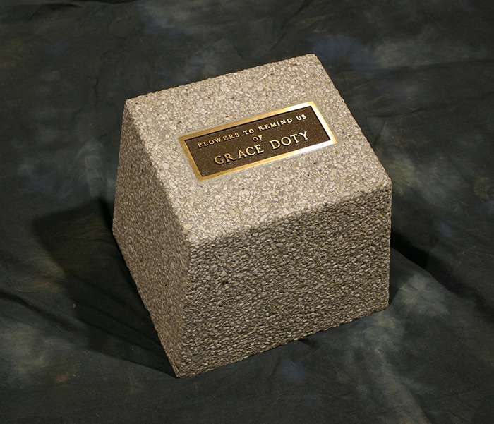 Small Memorial Plaque Base Mb1210 Doty Concrete