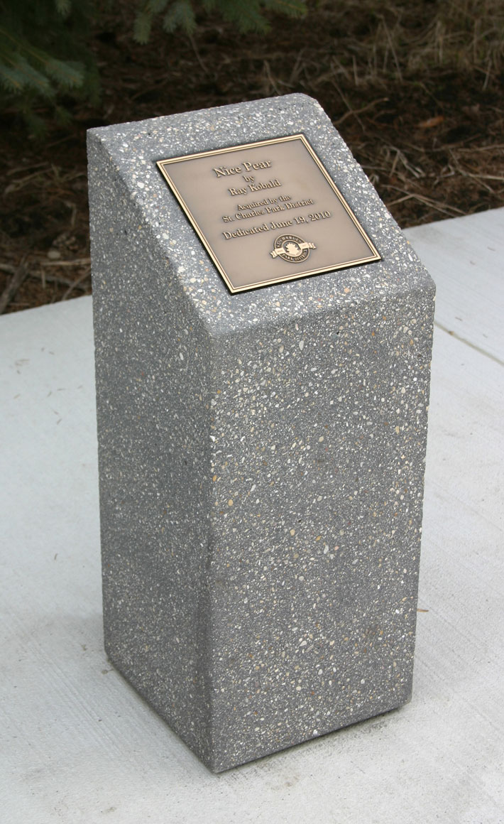 Memorial Plaque Base Mb1230 Doty Concrete