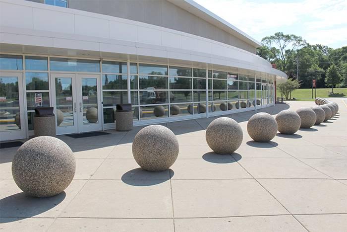 Sphere Bollards Doty Concrete