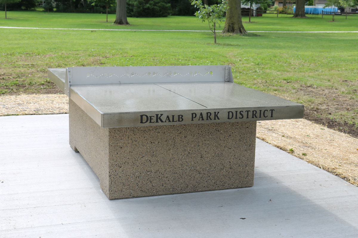 Outdoor Ping Pong Table For Dekalb Park District