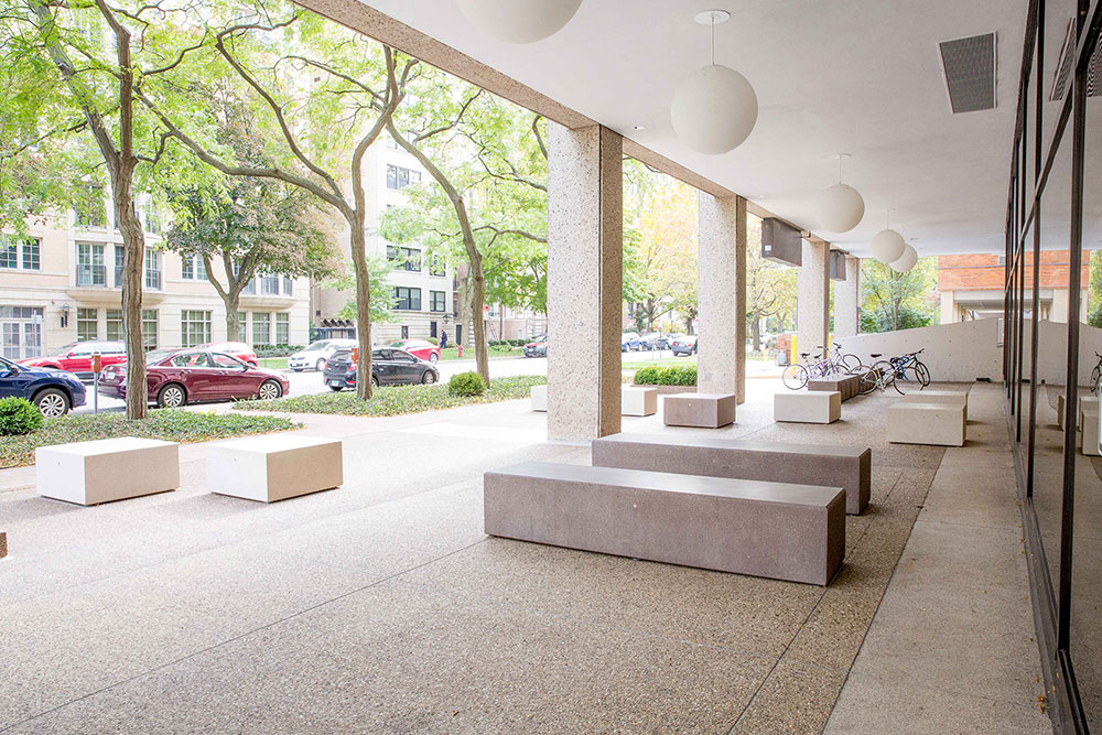 Rectangular and Square concrete benches