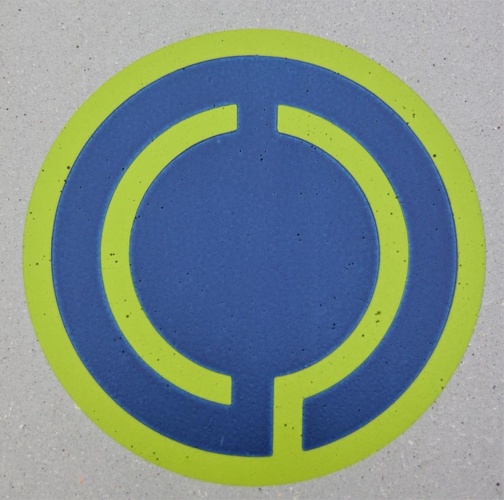 concrete cornhole custom logo